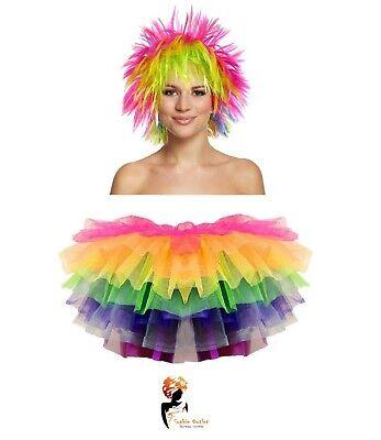 RAINBOW UNICORN TUTU COSTUME Pride Gay Pony Dash Halloween Fancy Dress Skirt  - Gay Costume Halloween
