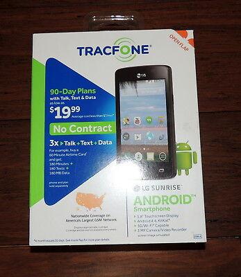 TRACFONE LG SUNRISE Smartphone 3G/WI_FI Capable 3MP Camera No Contract FAST SHIP