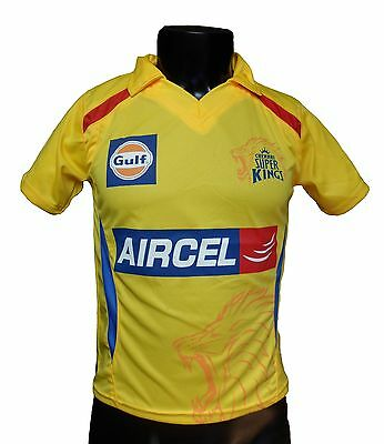 IPL Chennai Super Kings 2015 Jersey / Shirt, T20, Cricket India, CSK