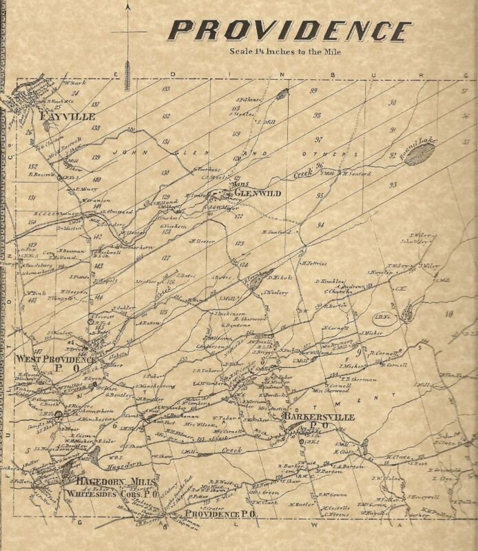 Providence Greenfield Middle Grove NY 1866 Maps with Homeowners Names Shown