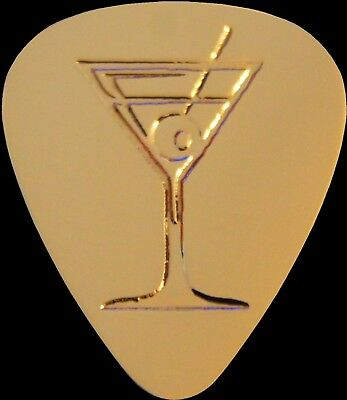 Martini Guitar - MARTINI - Solid Brass Guitar Pick, Acoustic, Electric, Bass