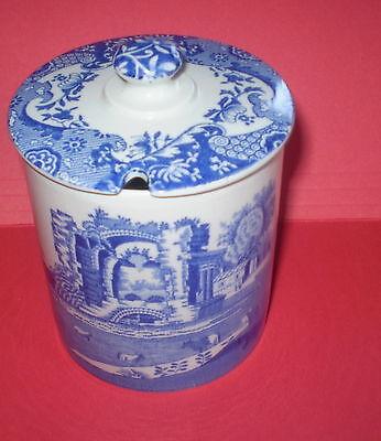 vtg Spode BLUE WILLOW Jam Marmalade JAR England