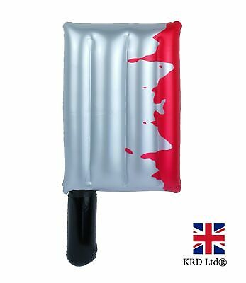 INFLATABLE BLOODY CLEAVER Blow Up Toy Spooky Scary Halloween Party Decor 40cm UK
