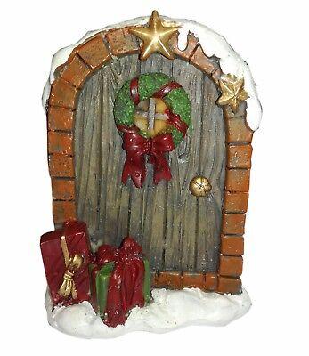 Christmas Miniature Fairy Door 9cm Xmas Decoration Present Gift Idea (Xmas Door Decorating Ideas)