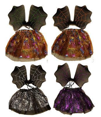Halloween Kostüm Fledermaus Flügel Tütü Rock 2 teilig - Fledermaus Kostüm Halloween