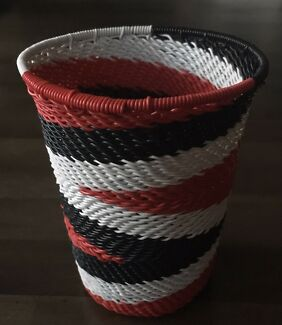 Cups/Pencil Holder - Crafted and Woven with Wire, South African