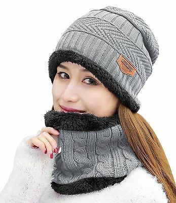 123f657546225 HindaWi Womens Beanie Winter Hat Scarf Set Slouchy Warm Snow Knit ...