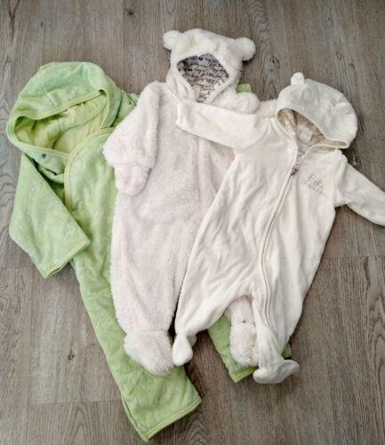 Baby Mädchen   Frühling Overall   Set 3 Stück   Gr.92   H&M   Weiß   Gebraucht