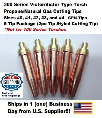 Propanenatural Gas Cutting Tip 1-gpn 01234 For Victor Type Torch-5tips-2pc