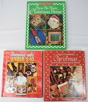 SET of 3 Books: Christmas Crafts DIY Make Cheap Ornaments Decorations Gifts  ()