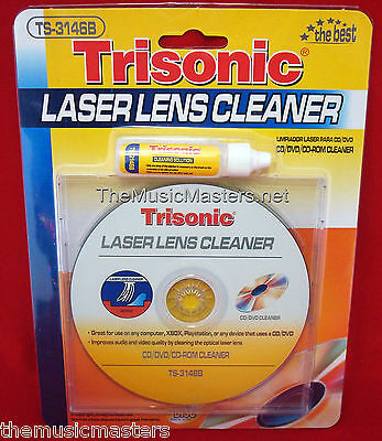 CD DVD Blu-Ray Player LASER LENS CLEANER Cleaning Disc w/Fluid Xbox PS2 PS3, etc - Lens Cleaning Disc