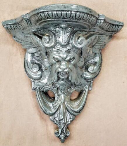 Gargoyle Mythical Shelf Wall Plaque Pan Green Man Medieval Sconce Bracket