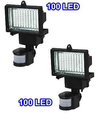 2 Pack 100 SMD LEDs Solar Powered Motion Sensor Security Light Flood 16 22 60 80