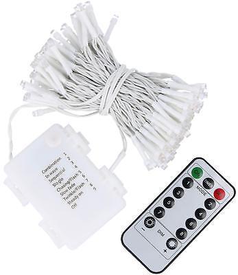 LED Lichterkette mit 120 LEDs, Timer und Fernbedienung, batteriebetrieben