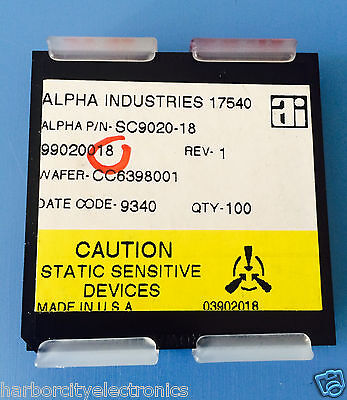 Sc9020-18 Alpha Industries Capacitor Chip Rf Microwave Product 100units Total