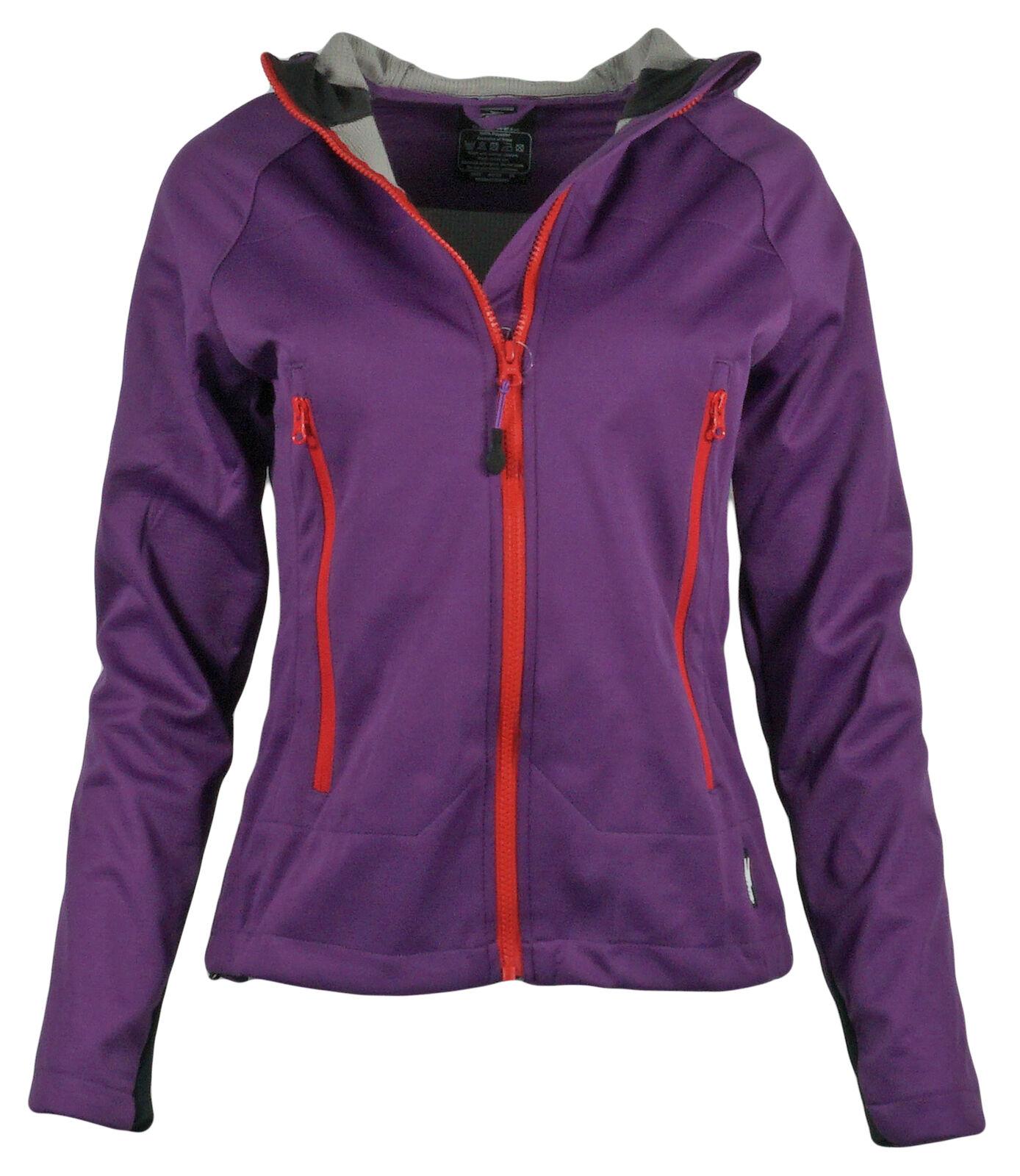 Damen Softshell Jacke mit Kapuze wasserabweisend Fitness outdoor Sport