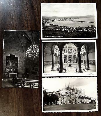 PALMA MALLORCA SPAIN 4 Photo Postcards 1930s-50s