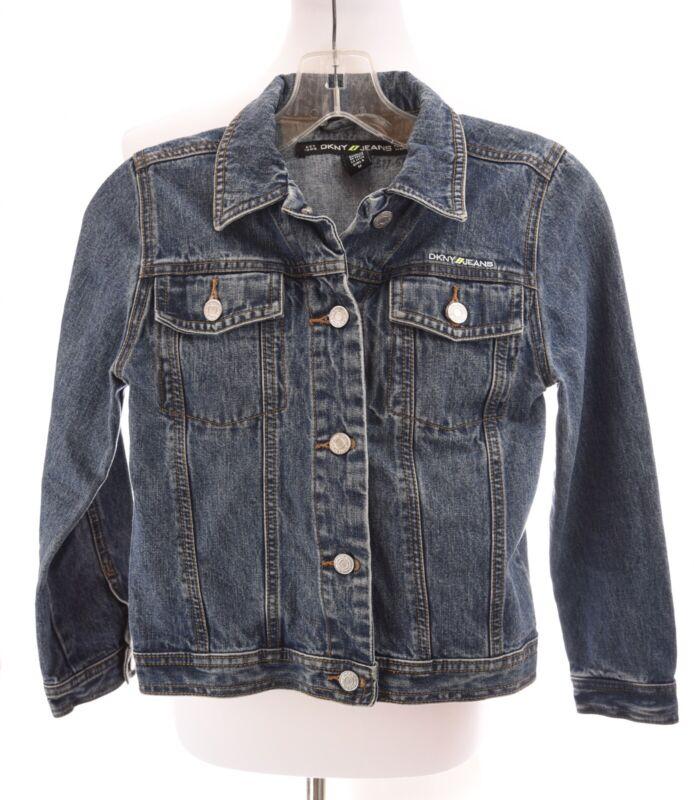 DKNY Donna Karen New York Girls Denim Blue Jean Jacket Youth Sz Medium