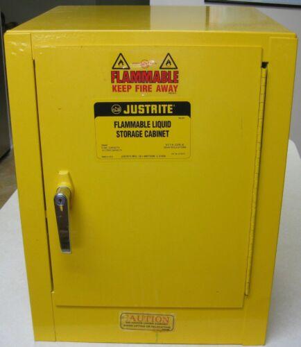 Justrite 4 Gallon 15 Liter Flammable Liquid Safety Storage Cabinet 25040 & Shelf