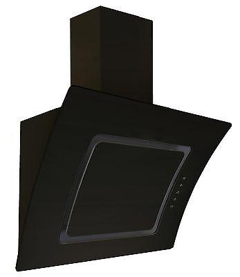 respekta kopffreie Schräghaube Dunstabzugshaube Glas 60 cm schwarz LED EEKL A
