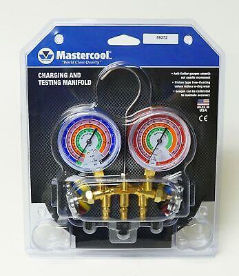 59272 Mastercool Ac Hvac Refrigeration Manifold W 72 Ball Hoses R410a R404a