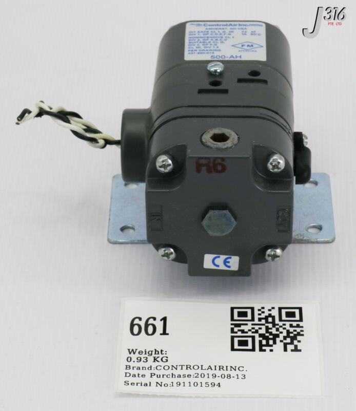 661 CONTROLAIR INC I/P TRANSDUCER ELECTROPNEUMATIC TYPE 500X 500-AH