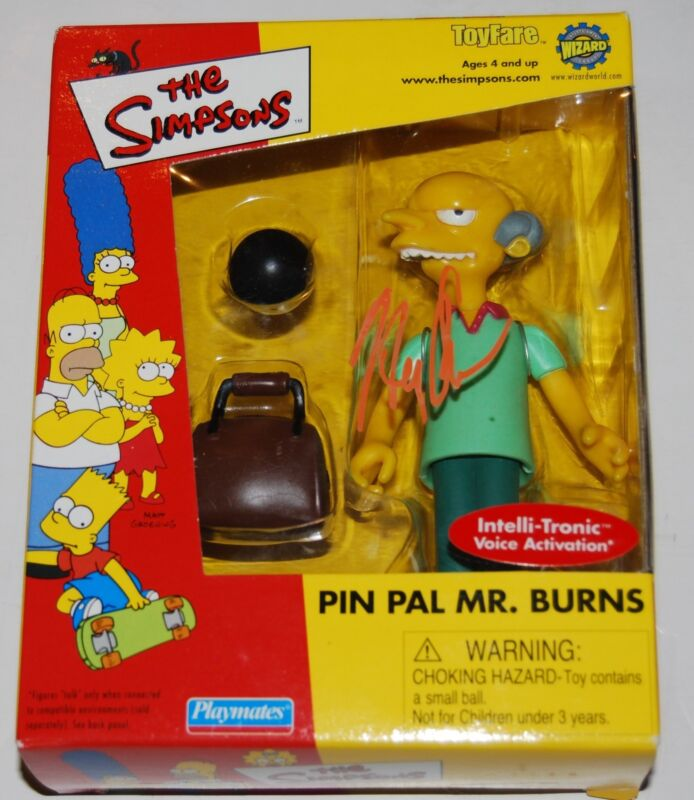 HARRY SHEARER signed (THE SIMPSONS) *Pin Pal Mr Burns* Toy Figure Figurine W/COA