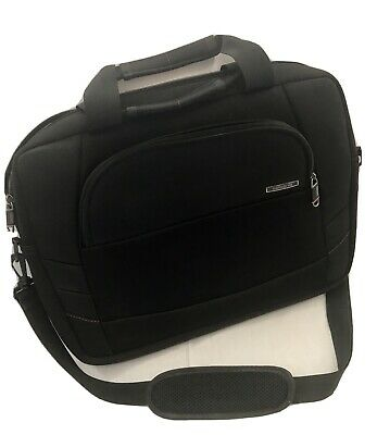 Samsonite Nylon Black Messenger Briefcase Laptop Travel Bag W/ Strap
