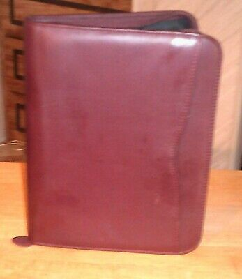Day-timer Leather Desk Planner Zipper Organizer Fits Franklin Covey Classic 1.0