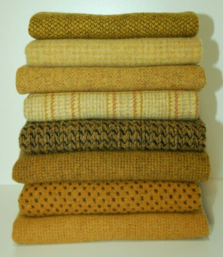 """HAND DYED RUG HOOKING WOOL Mill-Dyed ~ """"SUNFLOWERS & SUSANS"""" (8-pc. Combo)"""