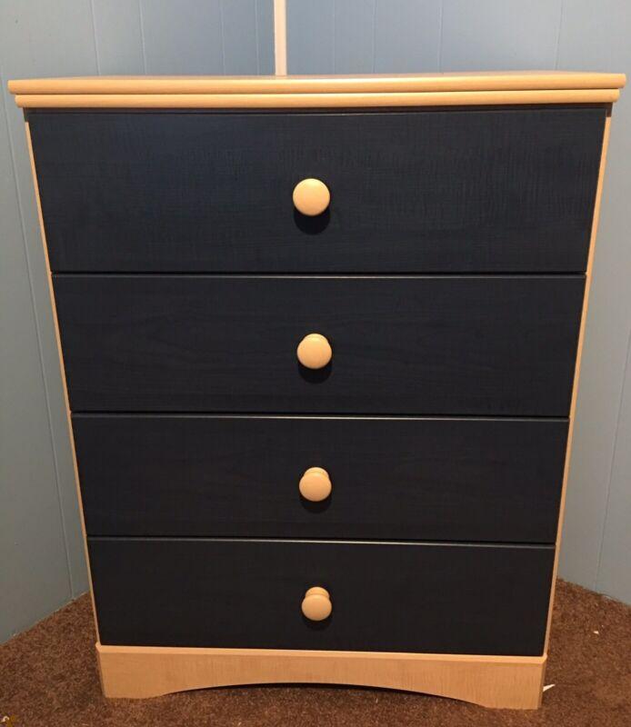 Ashley Furniture 4-drawer Kids Chest Dresser, Natural/denim (local Pickup Only)