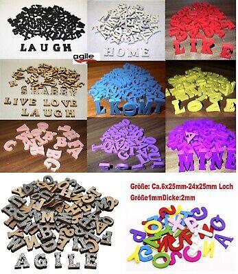 26 x Buchstaben Holz Holzbuchstaben Zahlen shabby chic Alphabet Deko Basteln