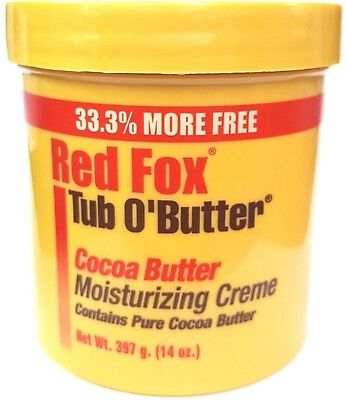 Red Fox Tub O'Butter Cocoa Butter, Moisturizing Creme, 14 oz