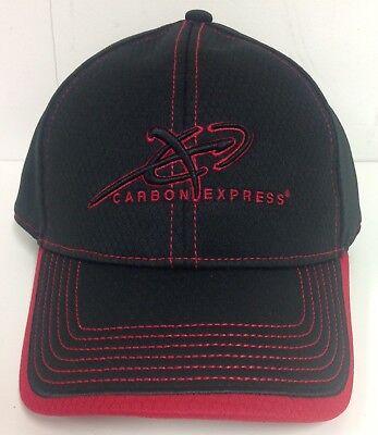 3b6f37f963f NEW CARBON EXPRESS ARROWS HAT, BLACK/RED ARCHERY CAP #CUCE16A-H5