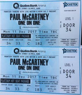 Paul McCartney - 2 x PLATINUM - SYDNEY