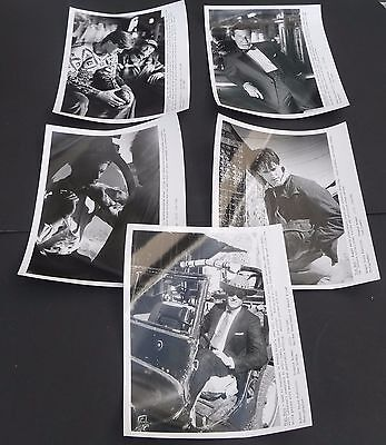 Vtg 1980s ROBERT STOCK press model men fashion photos lot of 5, 8x10