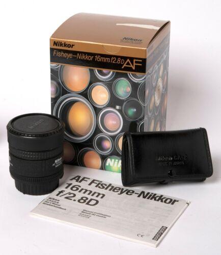 Nikon Fisheye-NIKKOR 16mm f/2.8 D AF Lens Excellent Condition