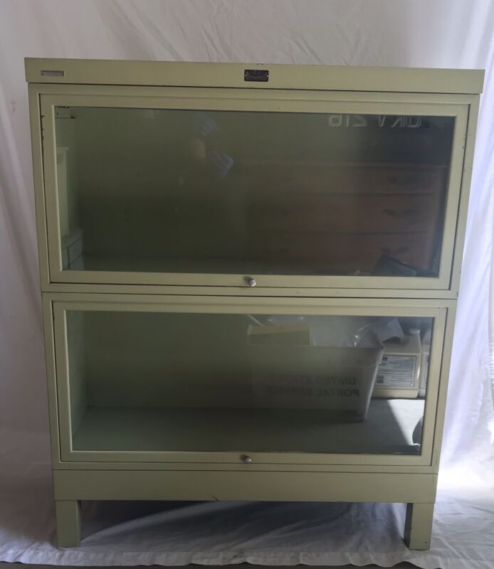 Mid Century Modern Barrister Bookcase, General Fireproofing Company