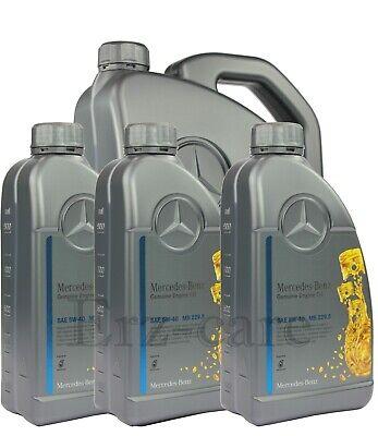8 Liter Original Mercedes Benz MB 229.5 5W-40 5W40 Motoröl Motorenöl NUR 5,43€/L