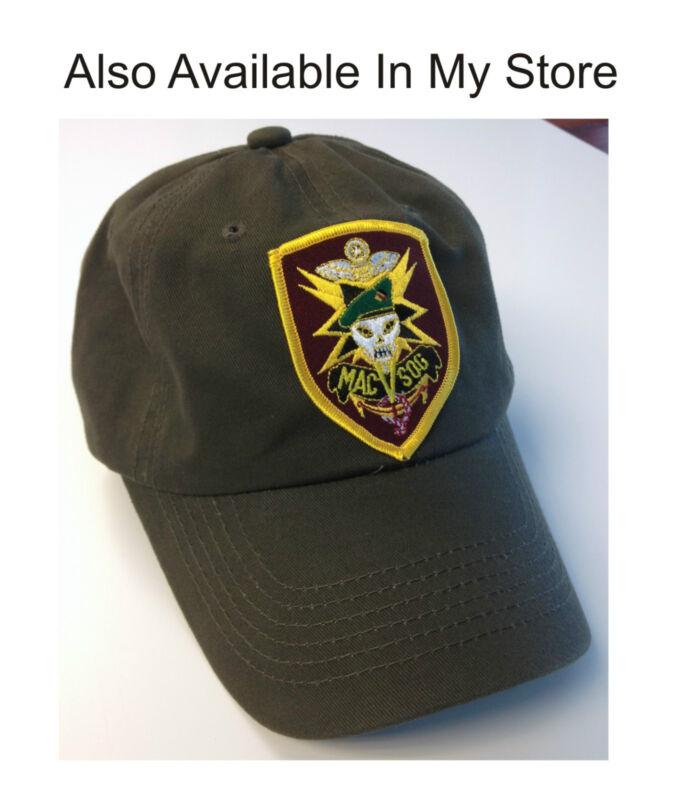 Vietnam War MACV MAC V SOG MACVSOG Hat Baseball Cap OD Green Dad Cap