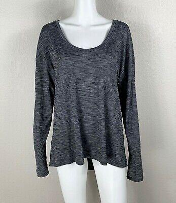 LULULEMON Meant To Move Long Sleeve Heathered Black Shirt Size 12 - NTSF