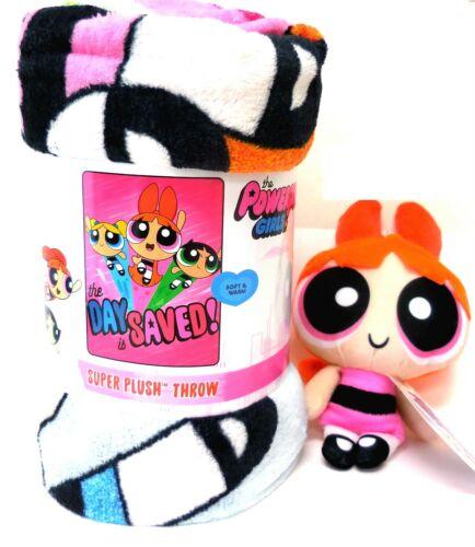 """Powerpuff Girls Micro Raschel Throw Blanket, 46"""" x 60"""" and Orange Blossom Plush"""