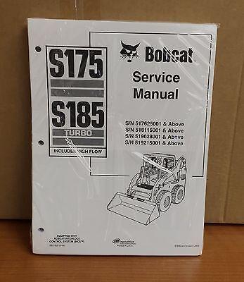 Bobcat S175 S185 Skid Steer Loader Complete Shop Service Manual 3 Pn 6901828