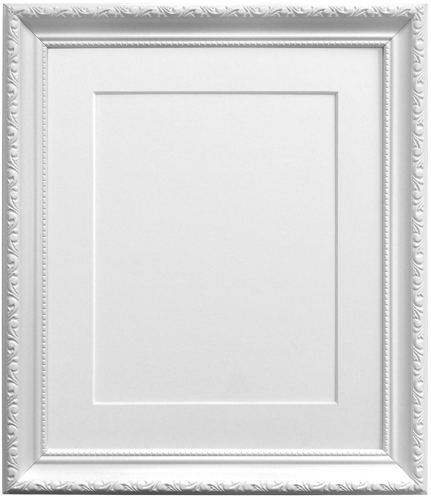 Elegant White Shabby Chic Picture photo Frames Choice of Mount ...
