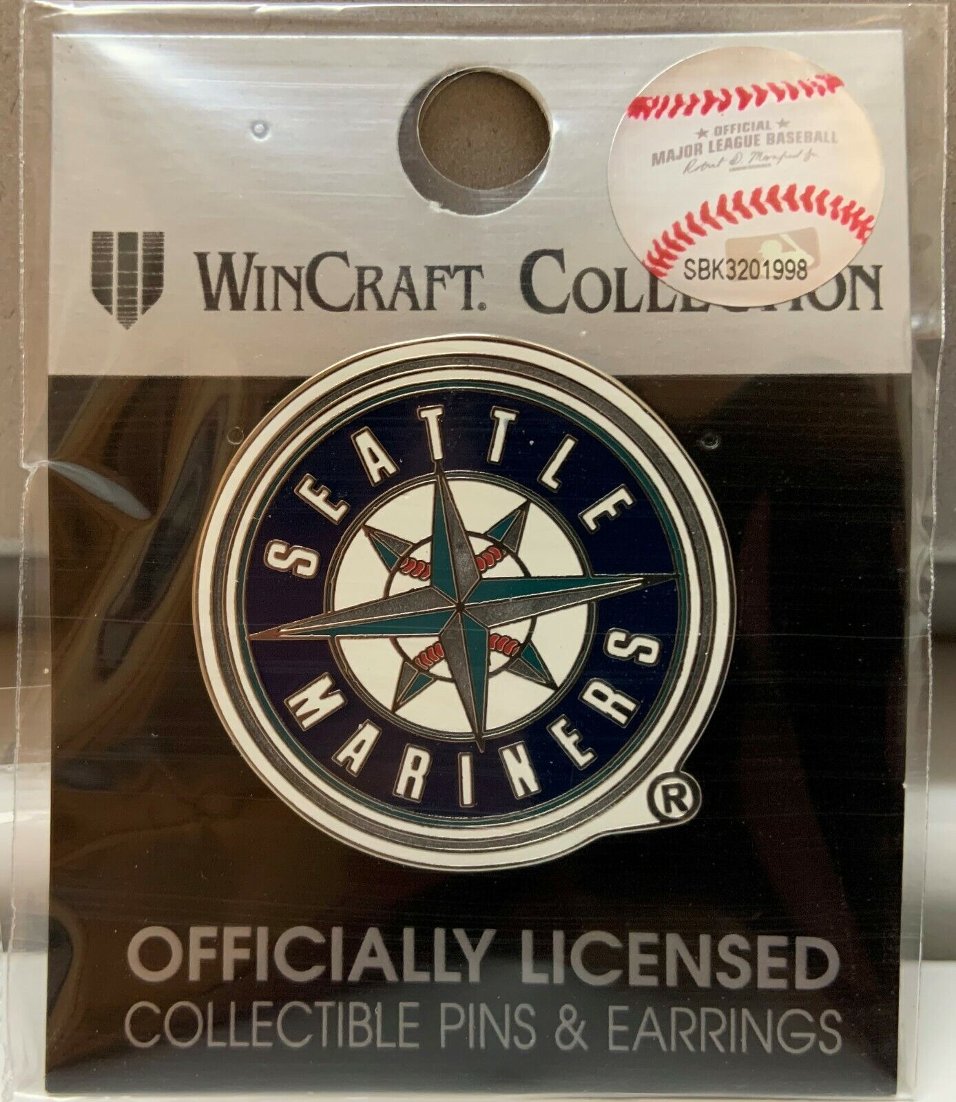 SEATTLE MARINERS LOGO LAPEL COLLECTOR PIN NEW WINCRAFT