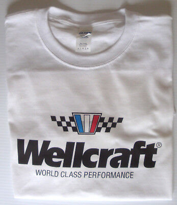T-shirt Wellcraft boats, fishing size large 100% cotton white top quality for sale  Shipping to Canada
