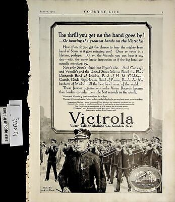 1919 Victrola Victor Talking Machine Recorder Music Band Vintage Print Ad 6143