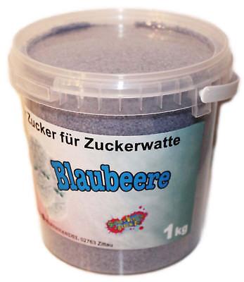 1 Kg Farbaromazucker Blaubeere Zucker für Zuckerwattemaschine Zuckerwatte Blau
