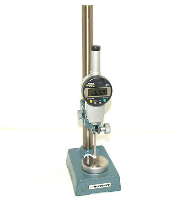 Mitutoyo 0-2 Digimatic 543-463b Digital Indicator With Mitutoyo Stand. Tested