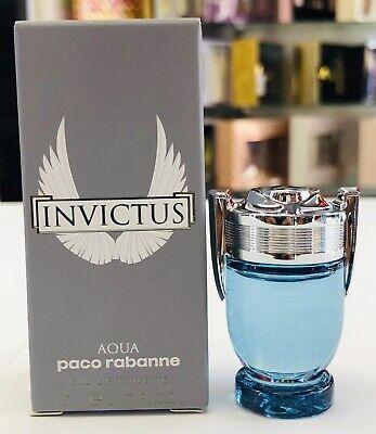 Invictus Aqua Paco Rabanne Eau de Toilette Mini Splash 0.17 oz - New in Box